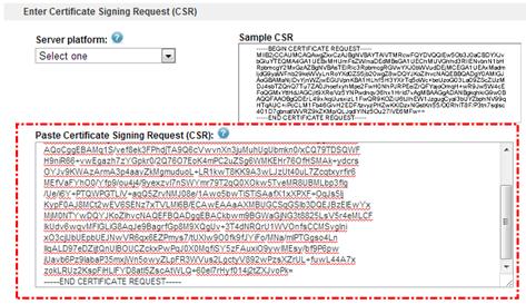 Paste kode CSR pada kolom yang telah disediakan.
