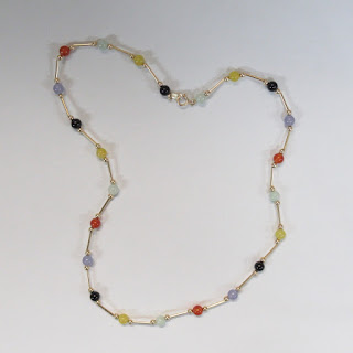 14K Gold and Multi-Stone Necklace