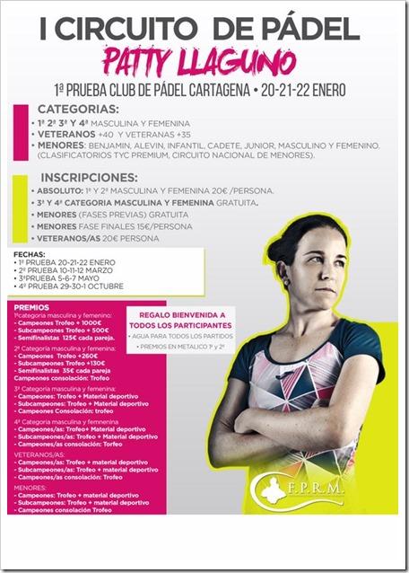 I Circuito de Pádel PATTY LLAGUNO 2017: un circuito para todos los públicos.