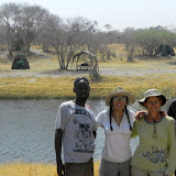 On the other side of the river is our camp in Savuti