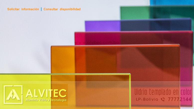 Vidrio templado en colores