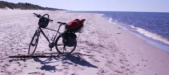 Am Strand zwischen Pogorzelica und Mrzezyno, Ostsee-Küste Polen