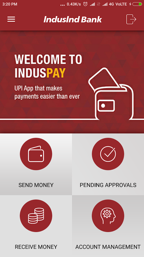 IndusPay UPI App- screenshot