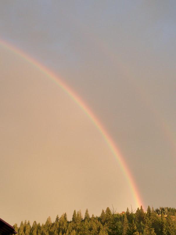 Curcubeul dublu de la sfarasitul zilei.