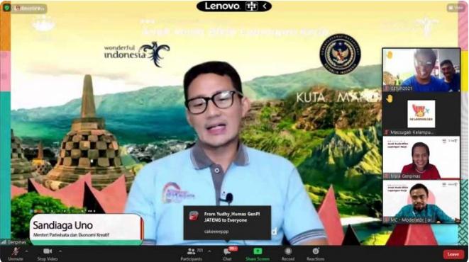 Menteri Sandiaga: GenPI Bisa Menjadi Agen Perubahan dan Pandemic Winner