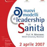 """Convegno """"Nuovi modelli di leadership in sanità"""""""