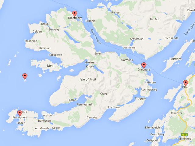 Oban Mull Map