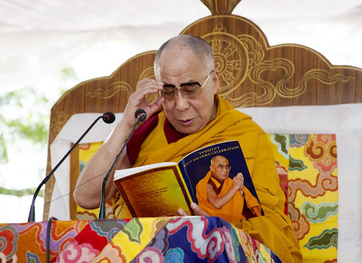 His Holiness the Dalai Lama at Tushita Mahayana Meditation Centre's 20th Dharma Celebration, New Delhi, India, March 9, 2013. Photo by Ven. Kabir Saxena.