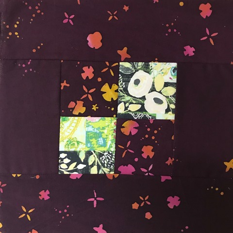 center of attention quilt block by Kim Lapacek