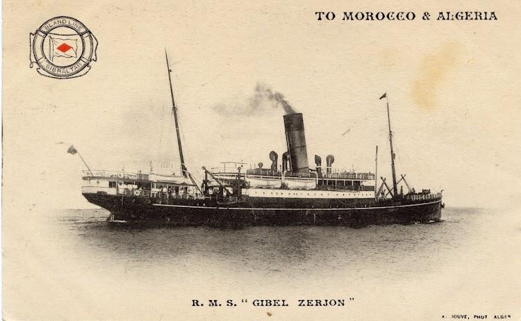 El primer GIBEL ZERJON en una postal corporativa. Coleccion Juan Antonio Padron Albornoz. Universidad de La Laguna. Puerto Autonomo de Tenerife.jpg