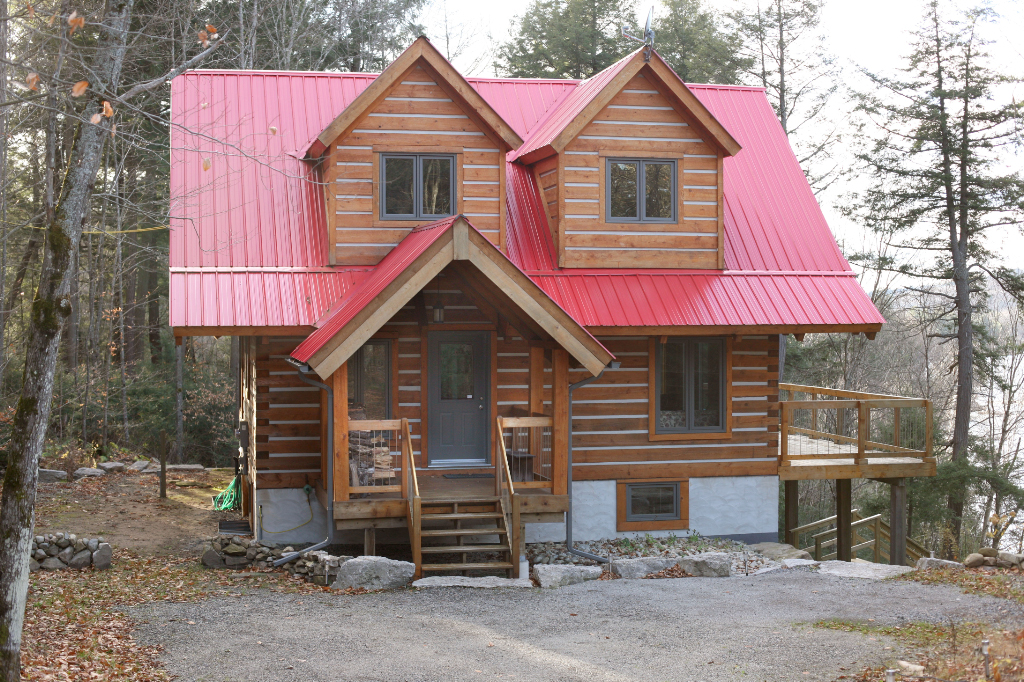 Picture gallery of ecolog log homes for Eco cabin kits