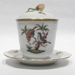 Herend Rothschild Bird Jam Jar