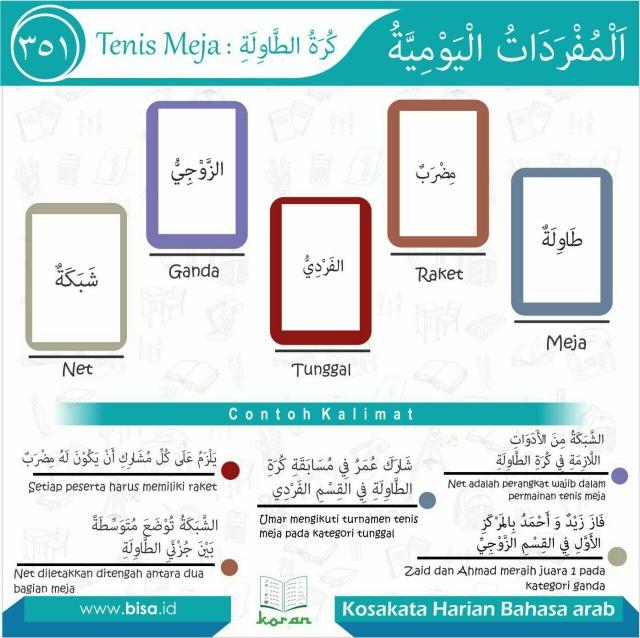 Bimbingan Bahasa Arab Bisa Tenis Meja 1