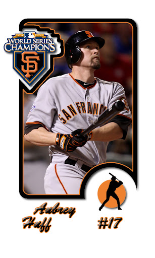 Aubrey Huff SF Giants Baseball Card Android wallpaper by eyebeam