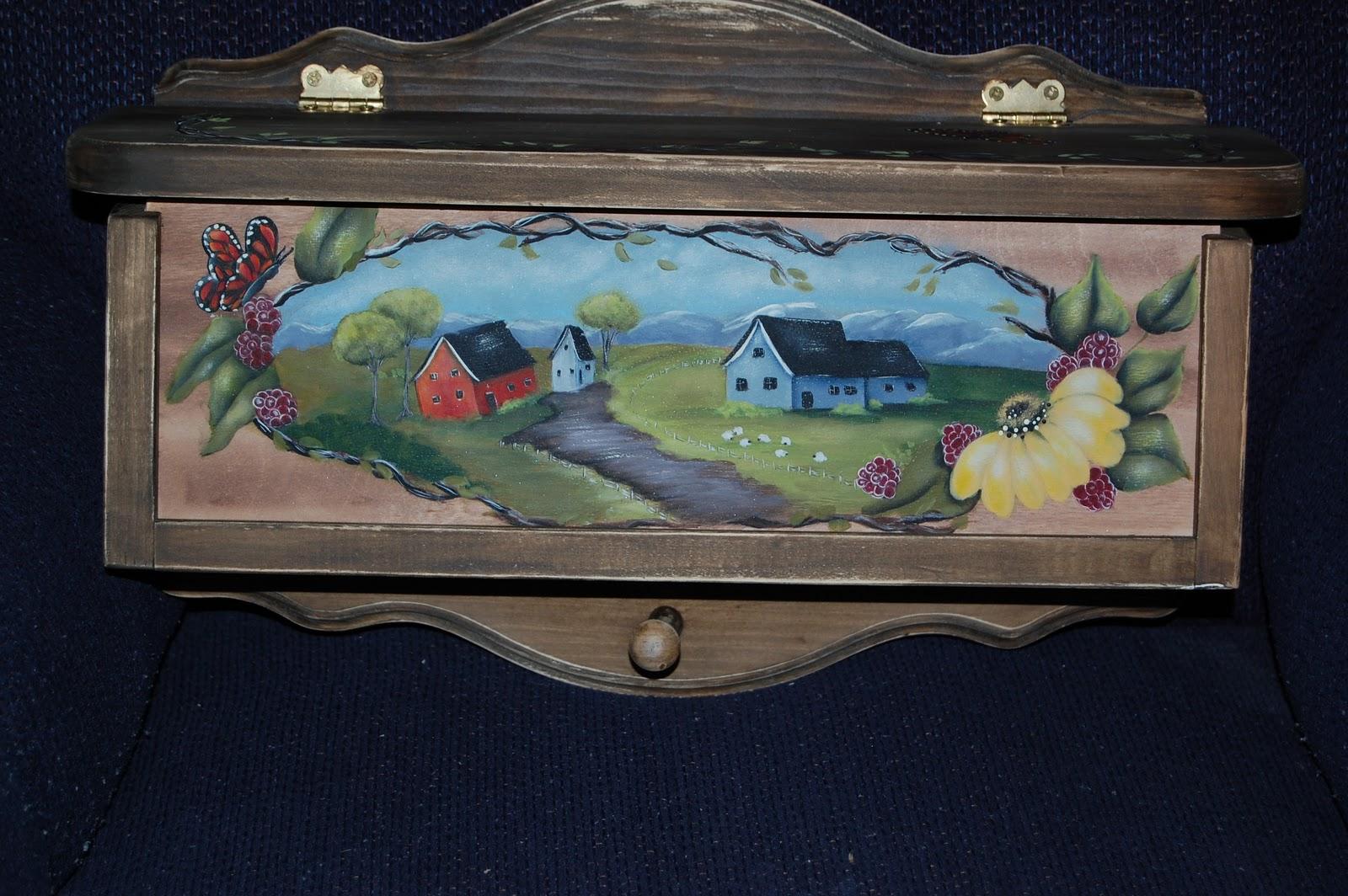 Les bidouilles blog de peinture d corative la belle bo te aux lettres - Peinture acrylique sur bois ...