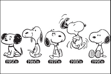 Snoopy over the years