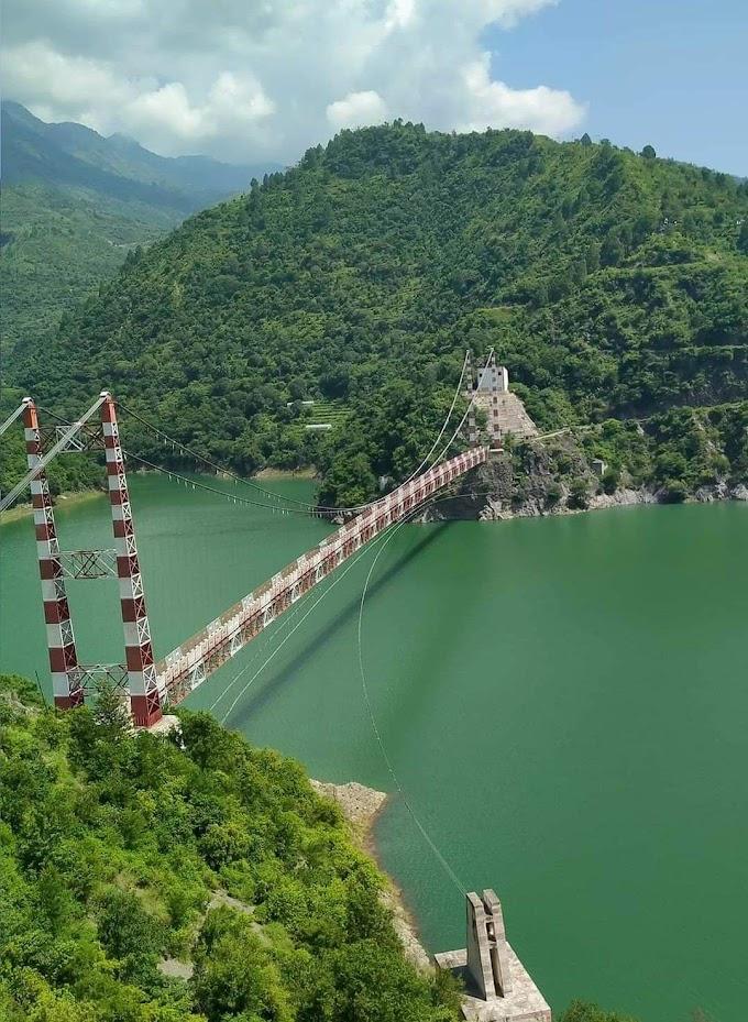 Dobra-Chanti suspension bridge..Tehri-Garhwal, Uttarakhand
