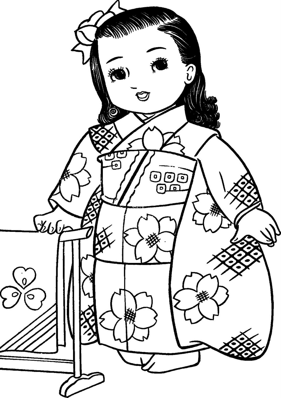 Mais Meninas Japonesas Para Colorir Desenhos Para Colorir