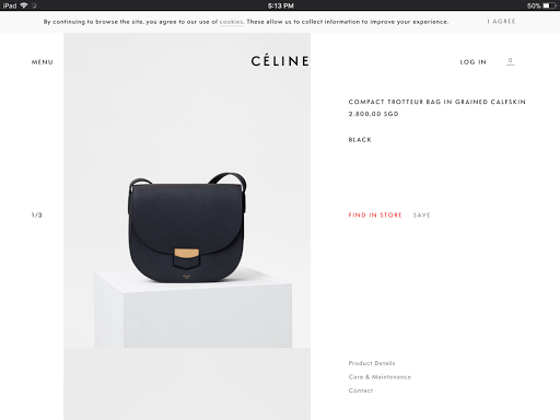 Celine Trotteur Bag in Black