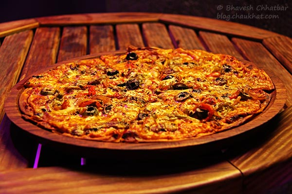 Lot Veg Pizza at The Flying Saucer Sky Bar, Viman Nagar, Pune