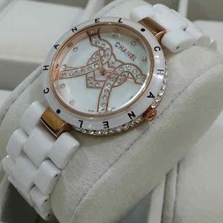 Jam Tangan  Chanel semi keramik