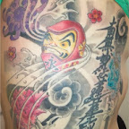 full back Dharma - Daruma Dolls Tattoos Pictures