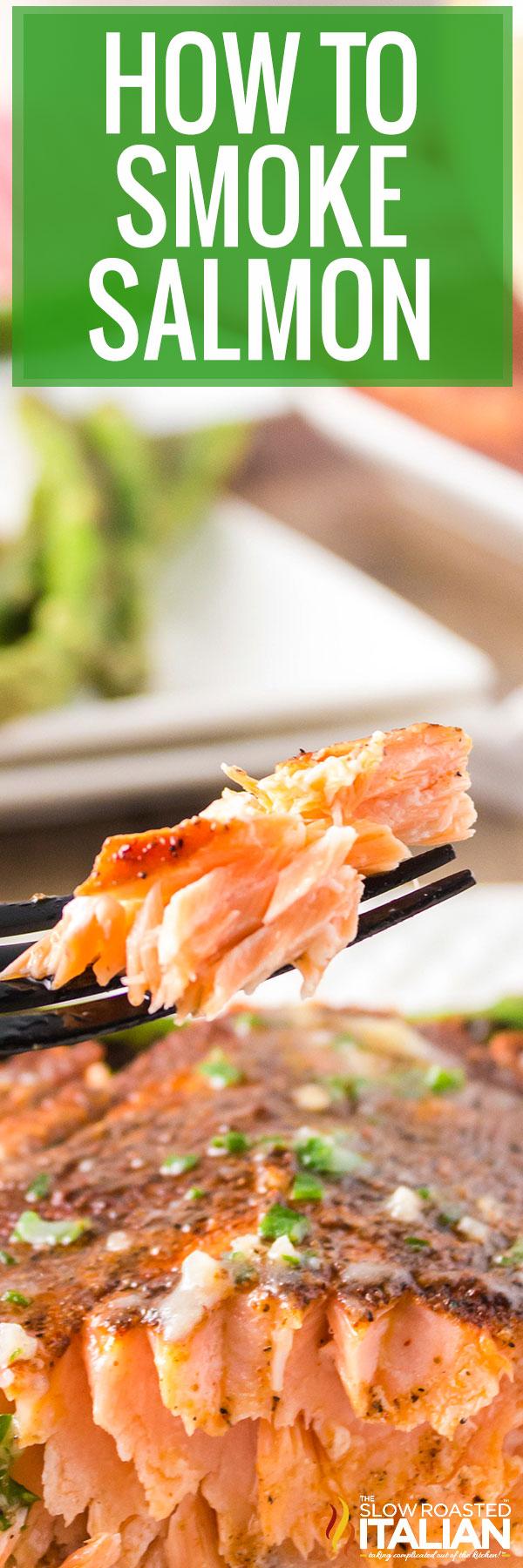 Closeup of Smoked Salmon