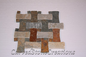 Bow Tie, Dog Bone, Flooring, Flooring & Mosaics, Interior, Mosaic, Multicolor, Natural, Slate, Stone, Tile