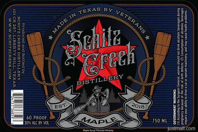 Shitz Creek Distillery Maple Whiskey