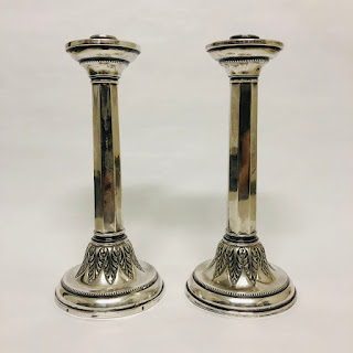Spanish Sterling Silver Candlesticks