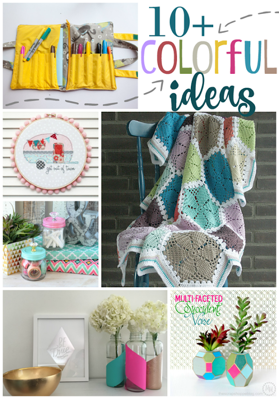 Over 10 Colorful Ideas at GingerSnapCrafts.com #linkparty #colorful #colormakesmehappy