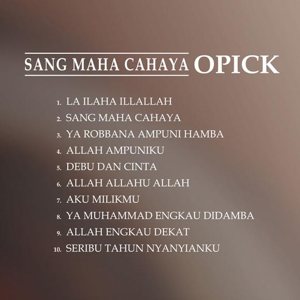 Opick Sang Maha Cahaya back cover