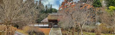 山門の風景 / 慶徳寺 (喜多方市)