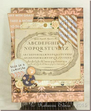 pastel Alphabet card