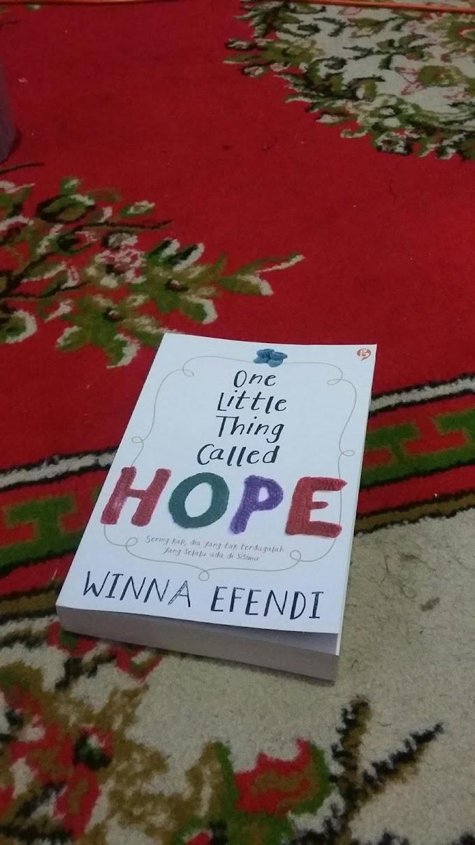 One Little Thing Called Hope : Saat Kenyataan dan Harapan Tak Selalu Sejalan
