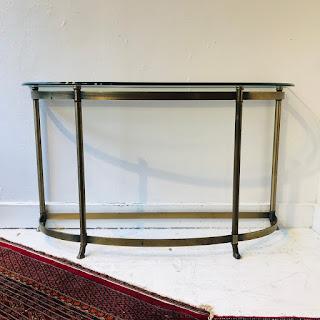 Brass Demilune Console Table