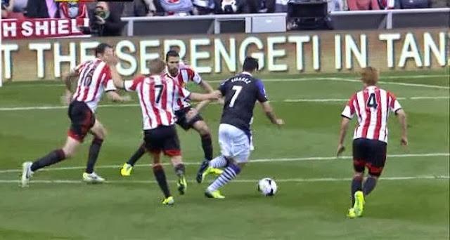 Suarez, Sunderland - Liverpool