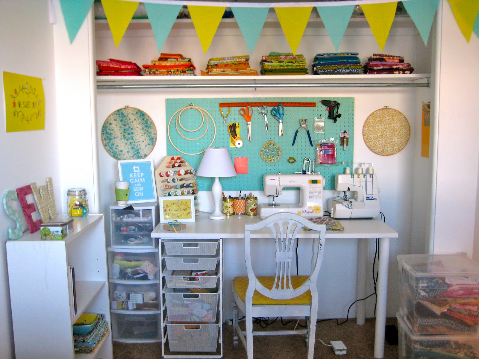 Reader request sewing room ideas belclaire house Sewing room ideas for small spaces