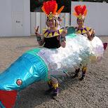 asakusa samba giant fish in Asakusa, Tokyo, Japan