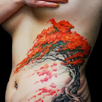 Tree and wind tattoo ribs - tattoos ideas