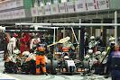 Sergio Perez (MEX) Sahara Force India F1 VJM07 makes a pit stop