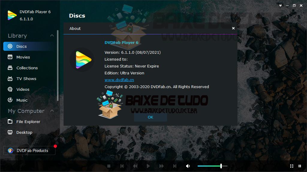 DVDFab Player Ultra v6.1.1 + Activador