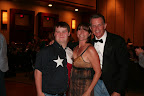 (L to R) Special Olympics Texas Athlete and Board Member, Colby Bannister of North Richland Hills, with Camie and Doug Dunbar, CBS 11 Anchor/Reporter and Evening's Master of Ceremonies
