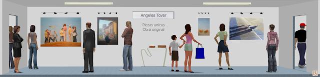 sala de exposición virtual de pinturas de angeles tovar