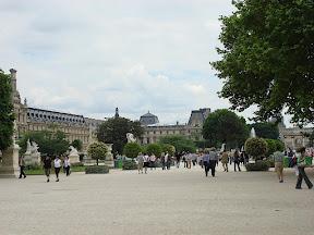 Le Louvre from Les Jardin des Tuileries