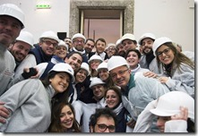 Matteo Renzi in visita alla Reggia di Caserta