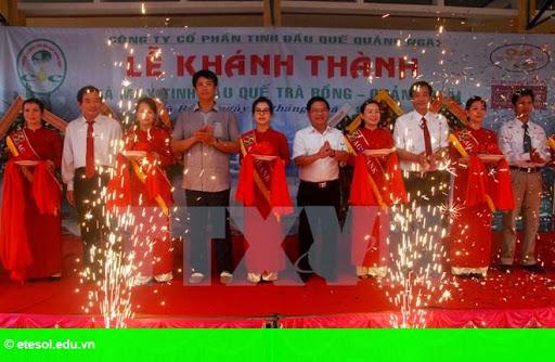 Hình 1: Quảng Ngãi khánh thành nhà máy sản xuất tinh dầu Quế Trà Bồng