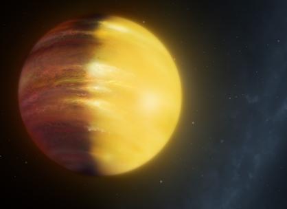 ilustração do exoplaneta HAT-P-7b