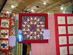 2007 Quilt Show - E) Pieced Small Machine Quilted