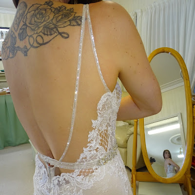 Ali - Sheer lace over Illusion netting, edged with tiny diamantes